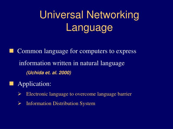 Universal Networking Language