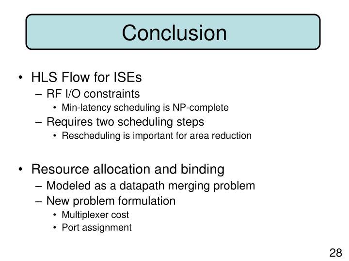 HLS Flow for ISEs