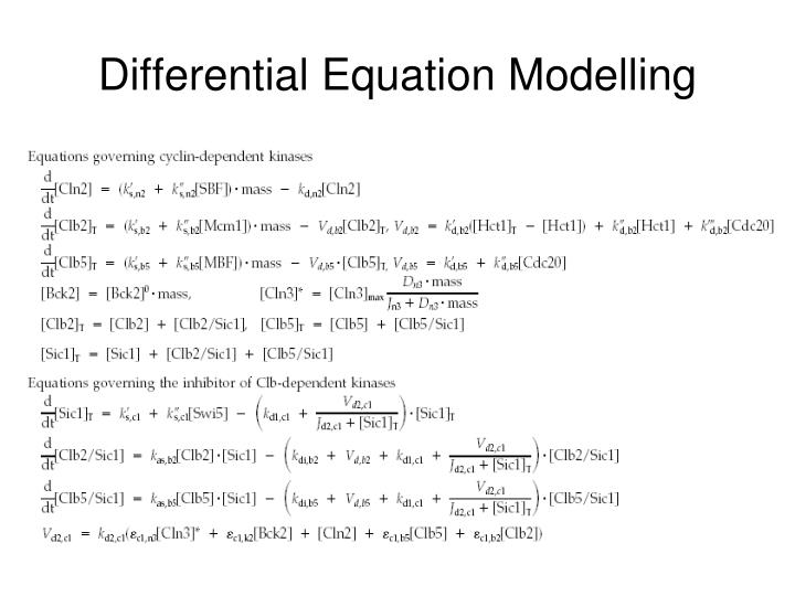 Differential Equation Modelling