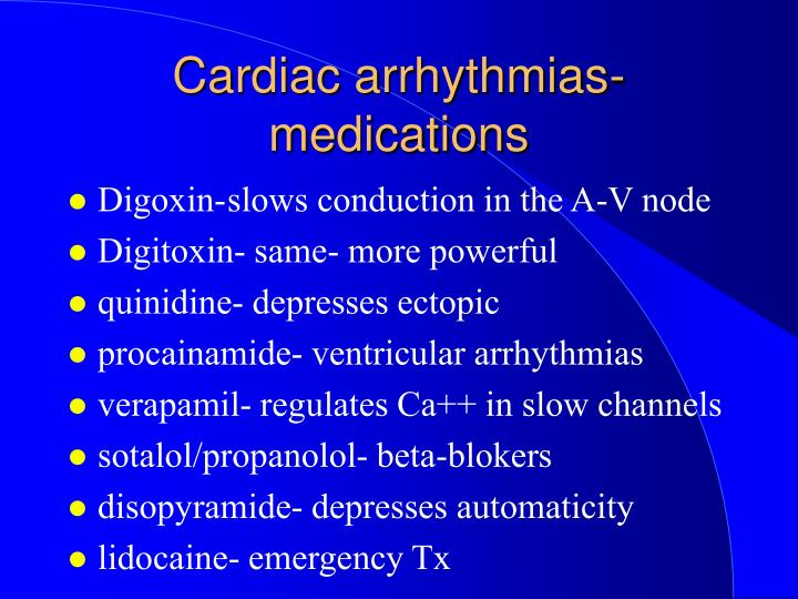 Cardiac arrhythmias-