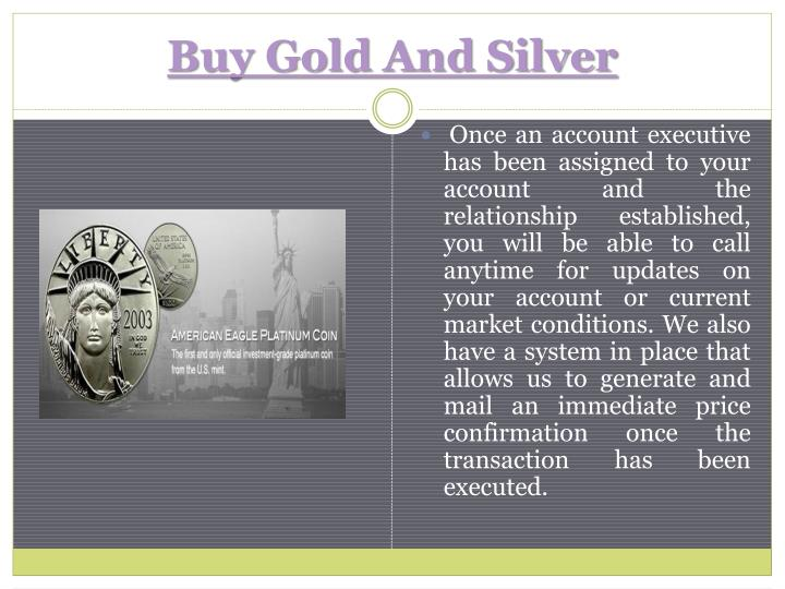 Buy Gold And Silver