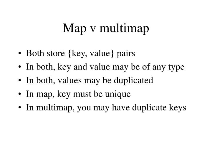 Map v multimap