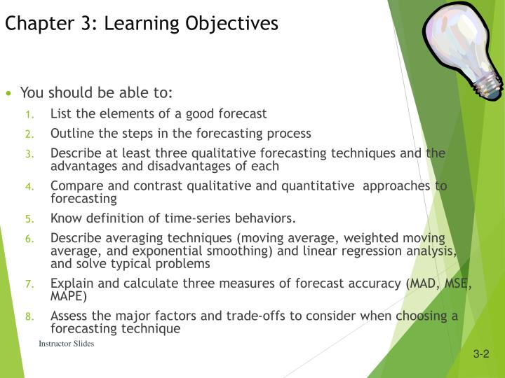 Chapter 3: Learning Objectives