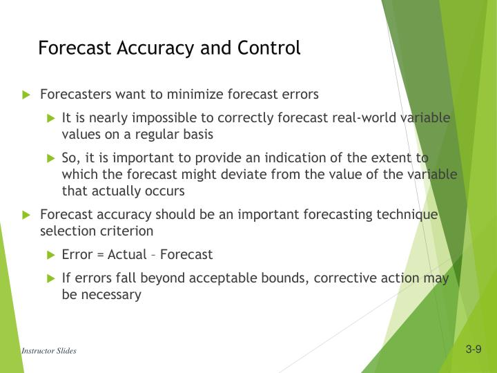 Forecast Accuracy and Control