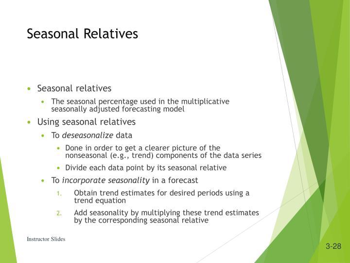 Seasonal Relatives