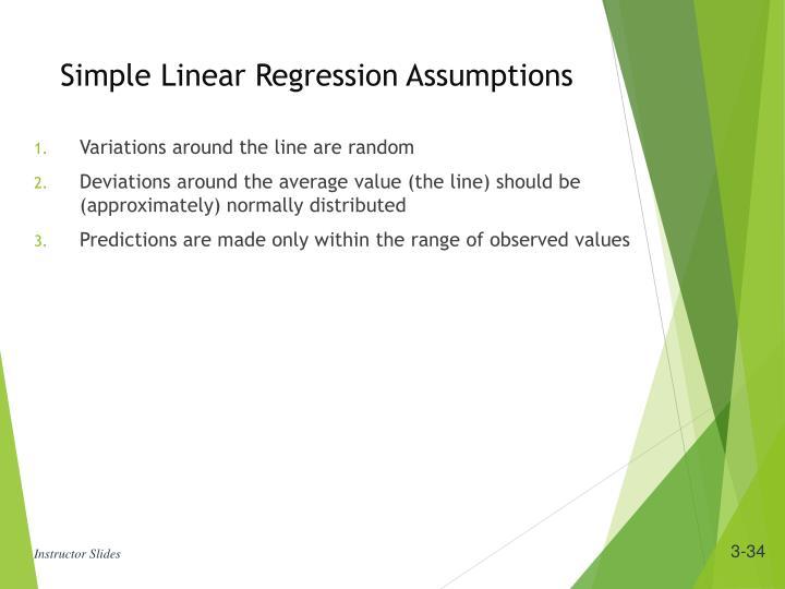 Simple Linear Regression Assumptions