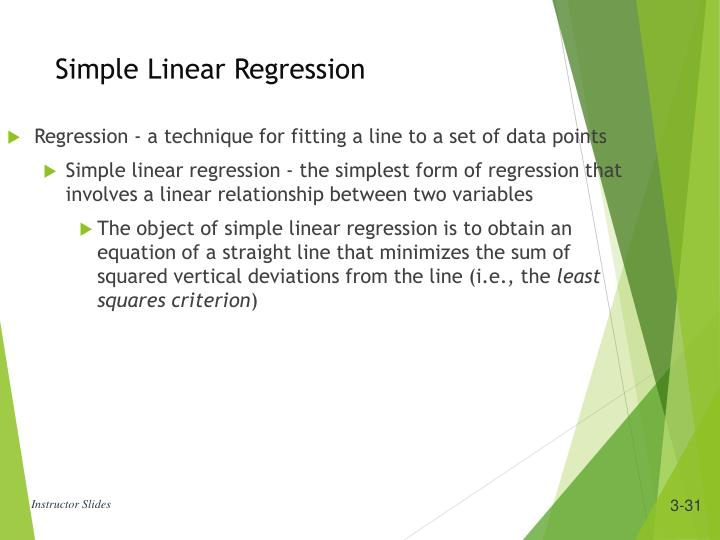 Regression - a technique for fitting a line to a set of data points