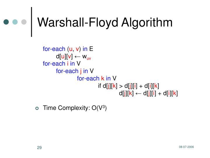 Warshall-Floyd Algorithm