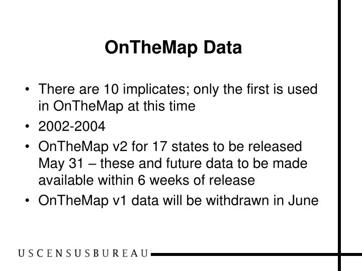 OnTheMap Data