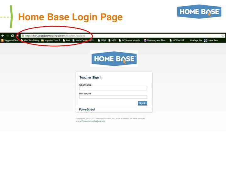 Home Base Login Page