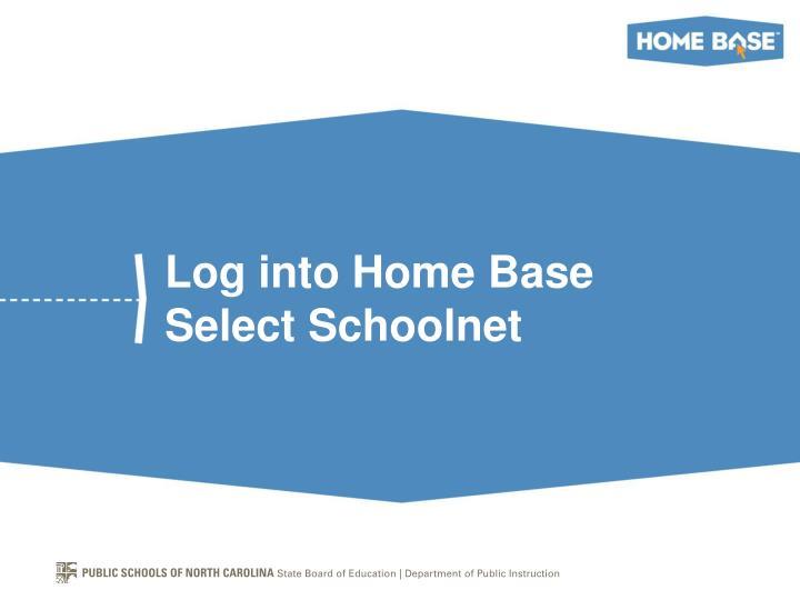 Log into Home Base