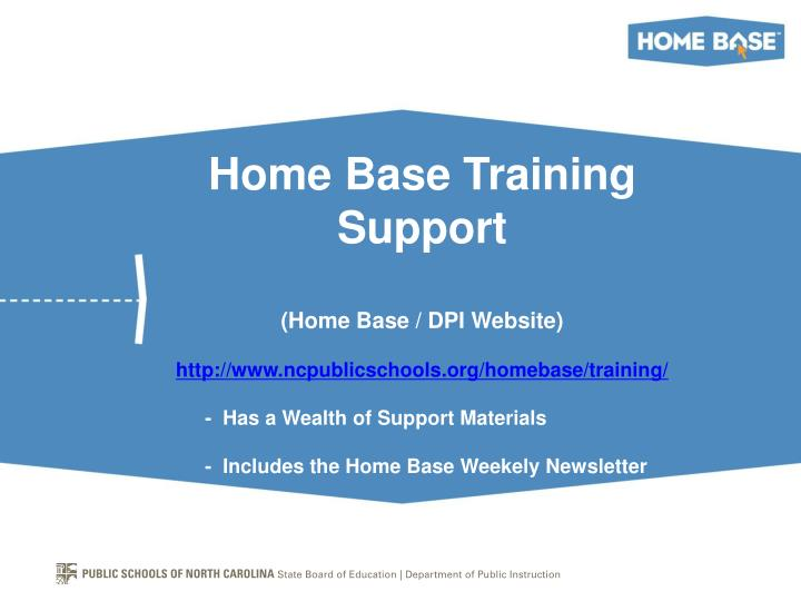 Home Base Training Support