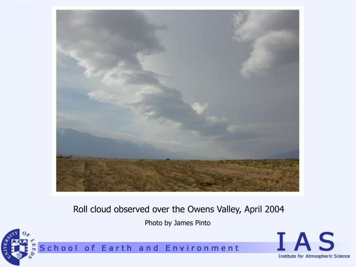 Roll cloud observed over the Owens Valley, April 2004