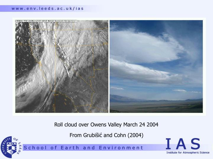 Roll cloud over Owens Valley March 24 2004