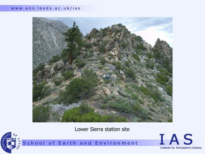 Lower Sierra station site