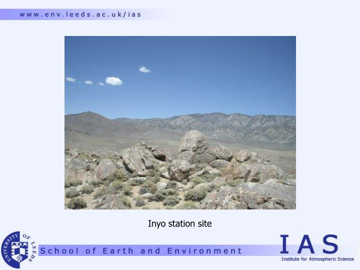 Inyo station site