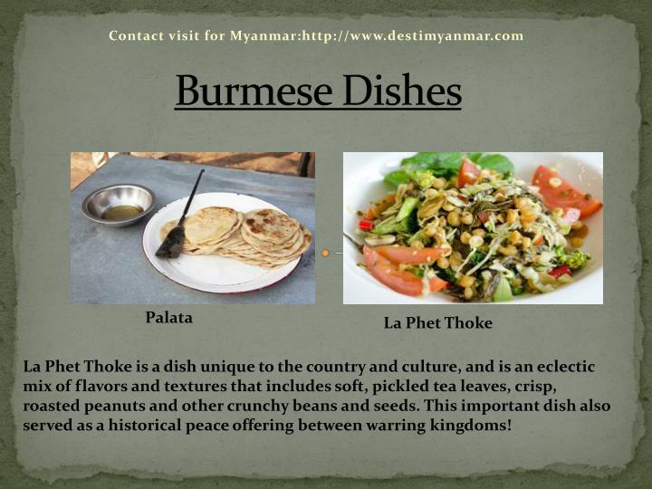 Burmese Dishes