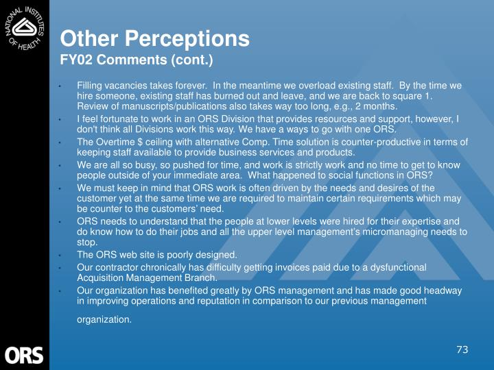Other Perceptions