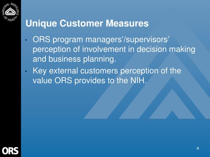 Unique Customer Measures