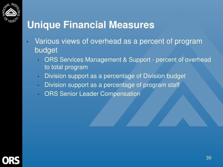 Unique Financial Measures