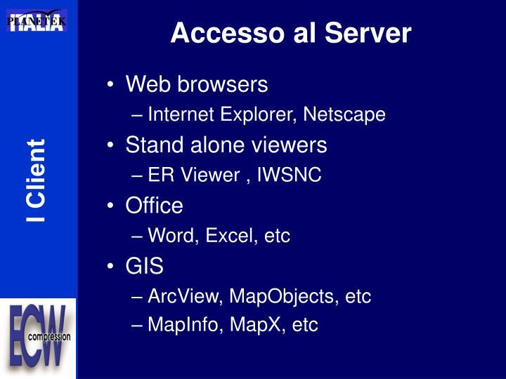 Accesso al Server