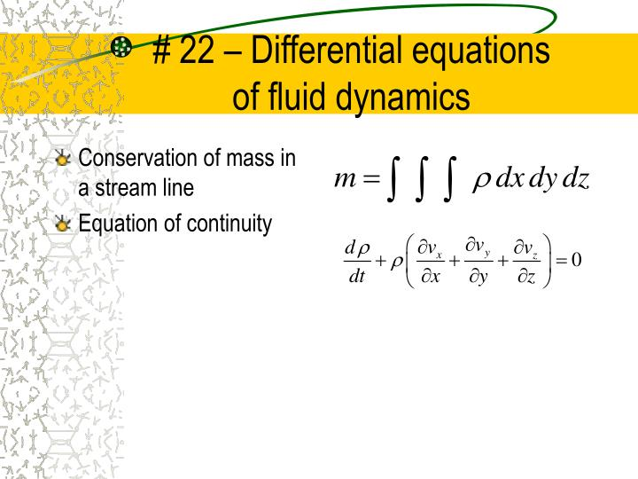# 22 – Differential equations