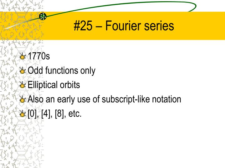 #25 – Fourier series