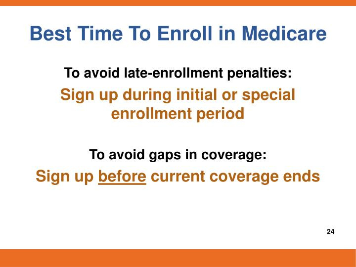 Best Time To Enroll in Medicare