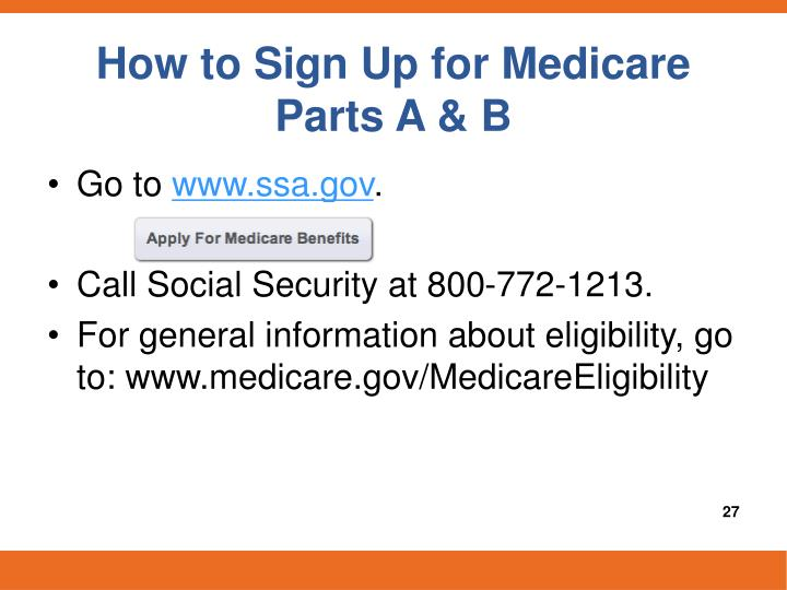 How to Sign Up for Medicare Parts A & B