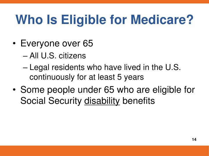 Who Is Eligible for Medicare?