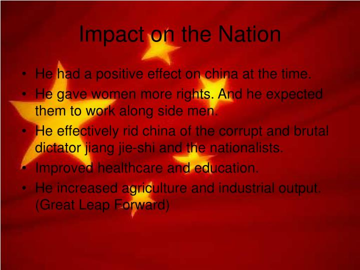 Impact on the Nation