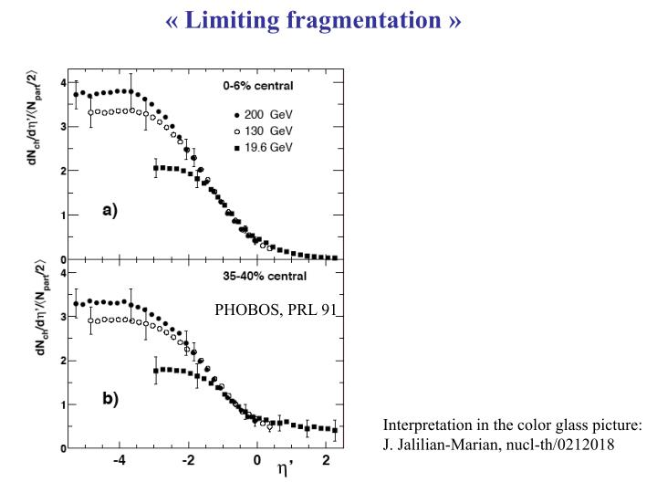 « Limiting fragmentation »
