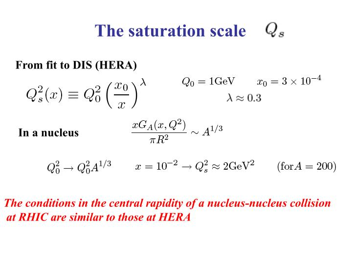 The saturation scale