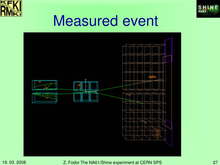 Measured event