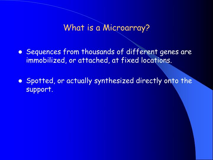 What is a Microarray?