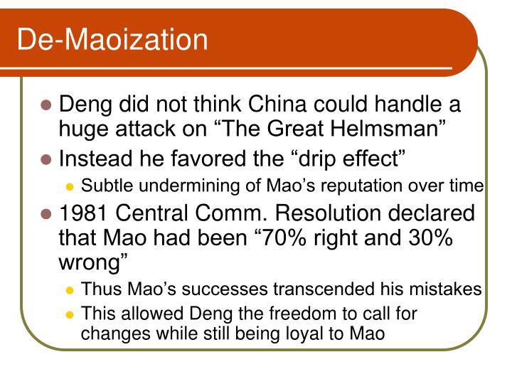 De-Maoization