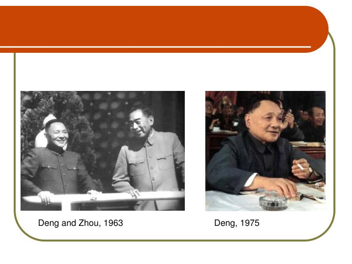 Deng and Zhou, 1963Deng, 1975