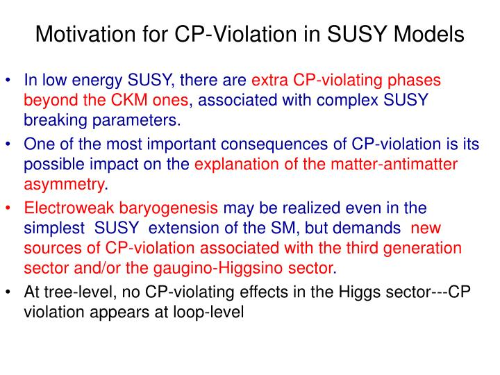 Motivation for CP-Violation in SUSY Models