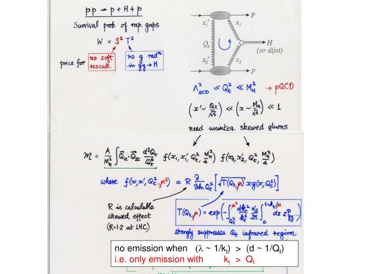 no emission when