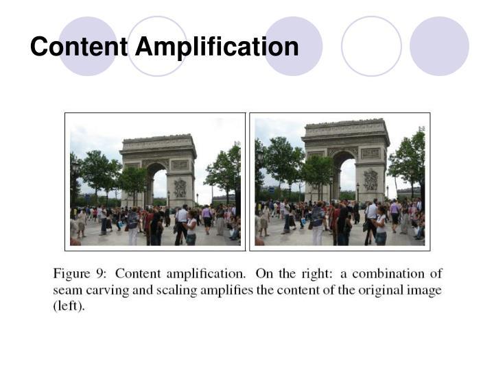 Content Amplification