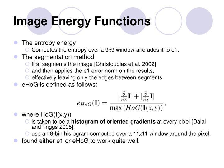Image Energy Functions