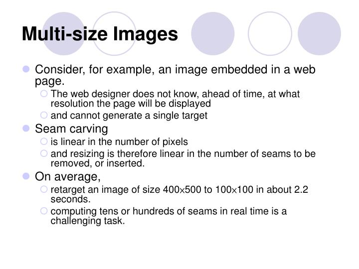 Multi-size Images