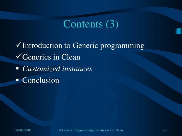 Contents (3)