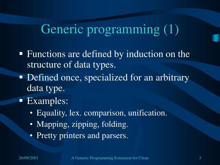 Generic programming (1)