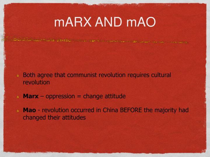 mARX AND mAO