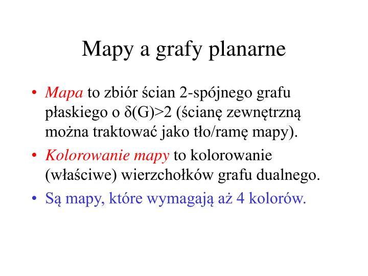 Mapy a grafy planarne