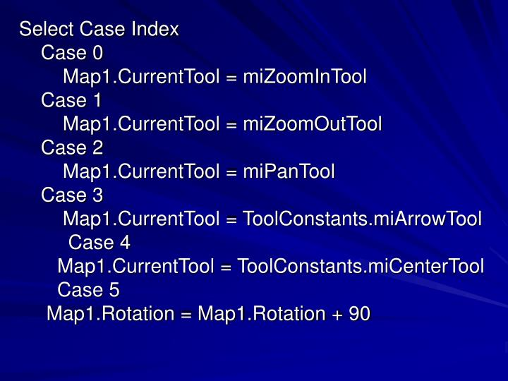 Select Case Index
