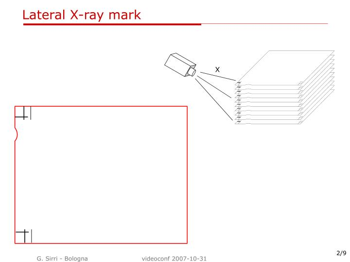Lateral x ray mark
