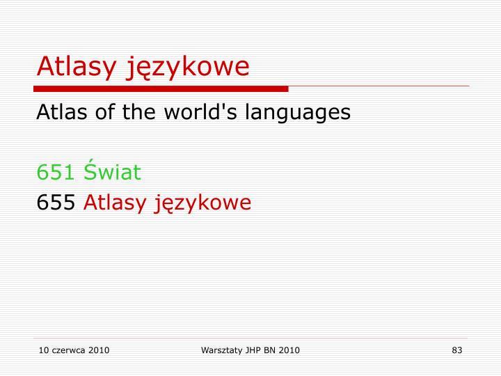 Atlasy językowe