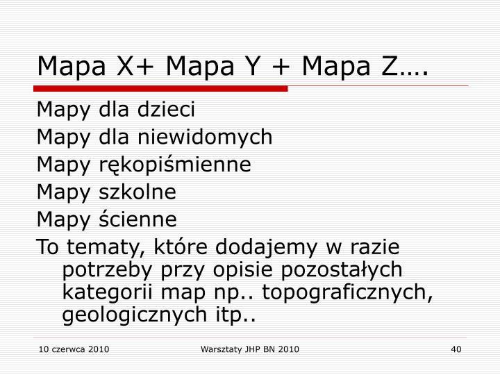 Mapa X+ Mapa Y + Mapa Z….